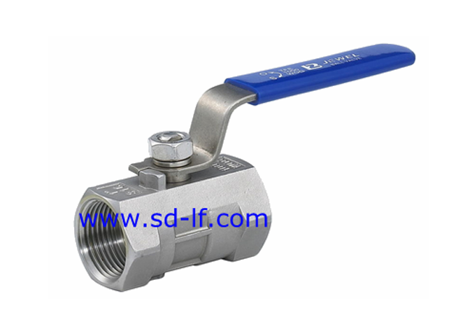 A piece of stainless steel ball valve